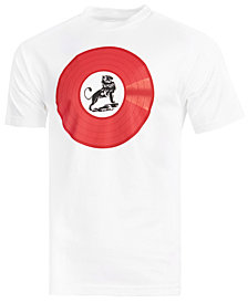 LRG Men's Lion Rock Vinyl Graphic-Print T-Shirt