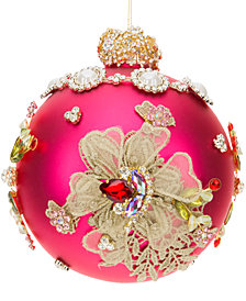 Mark Roberts King's Jeweled Pink Ball Ornament