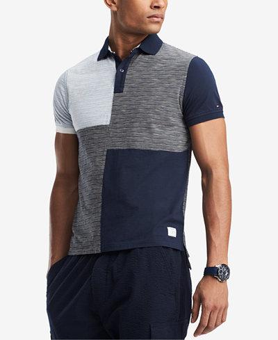 Tommy Hilfiger Men's Ben Colorblocked Custom Fit Polo