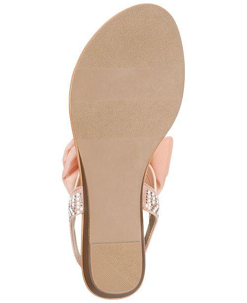 1b9e379809a2 Material Girl Swan Flat Thong Sandals