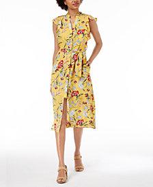 Maison Jules Flutter-Sleeve Midi Sheath Dress, Created for Macy's