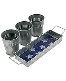 4-Pc. Galvanized Snack Bucket Set