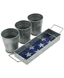 CLOSEOUT! Thirstystone 4-Pc. Galvanized Snack Bucket Set