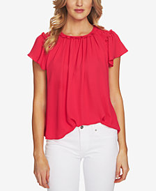 CeCe Flutter-Sleeve Top