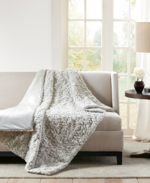 "Image of Madison Park Bismarck Faux-Fur 50"" x 60"" Down-Alternative Throw"