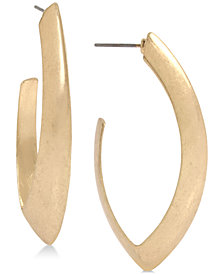 Robert Lee Morris Soho Large Gold-Tone Open Hoop Earrings