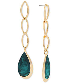 Robert Lee Morris Soho Gold-Tone & Patina Linear Drop Earrings