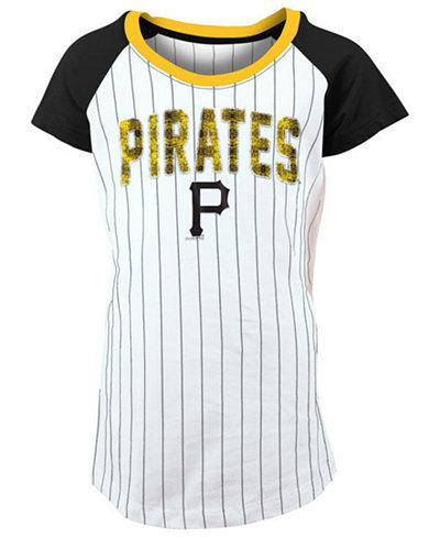 5th & Ocean Pittsburgh Pirates Sequin Pinstripe T-Shirt, Girls (4-16)