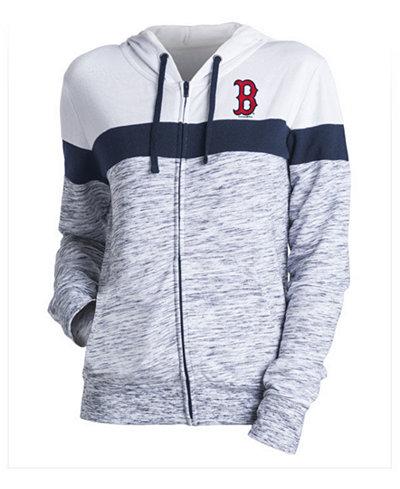5th & Ocean Women's Boston Red Sox Space Dye Hoodie