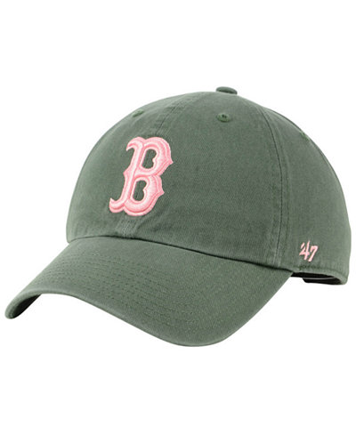 '47 Brand Boston Red Sox Moss Pink CLEAN UP Cap