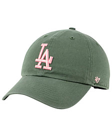 '47 Brand Los Angeles Dodgers Moss Pink CLEAN UP Cap