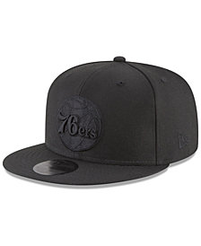 New Era Philadelphia 76ers Blackout 59FIFTY Fitted Cap