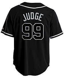 Majestic Men's Aaron Judge New York Yankees Pitch Black Jersey