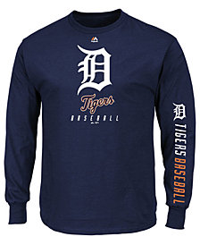 Majestic Men's Detroit Tigers Game Supreme Long Sleeve T-Shirt
