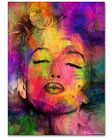 "Mark Ashkenazi 'Marilyn Monroe VI' 18"" x 24"" Canvas Wall Art"