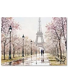 "The Macneil Studio 'Eiffel Tower Paste' 35"" x 47"" Canvas Art Print"
