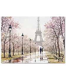 "The Macneil Studio 'Eiffel Tower Paste' 35"" x 47"" Canvas Art Print"