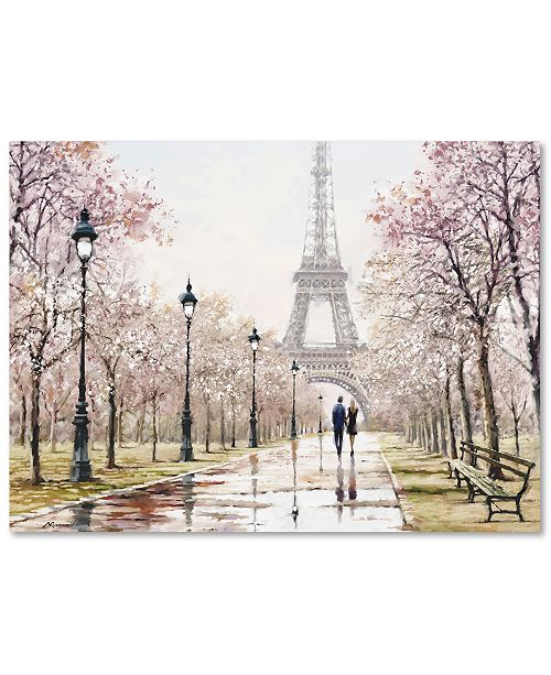 "Trademark Global The Macneil Studio 'Eiffel Tower Paste' 35"" x 47"" Canvas Art Print"