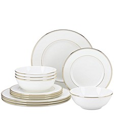 Federal Gold 12-Piece Dinnerware Set, Service for 4