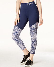 Calvin Klein Performance Diamond Dust Printed Ankle Leggings