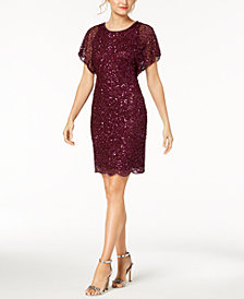 Adrianna Papell Petite Beaded Sequined Dress