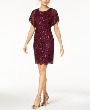 BEADED SEQUINED DRESS