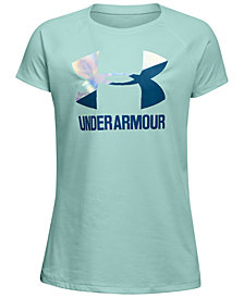 Under Armour Solid Big Logo T-Shirt, Big Girls