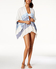 Calvin Klein Geo-Striped Cover-Up