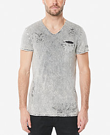 Buffalo David Bitton Men's Tulast Destroyed V-Neck T-Shirt
