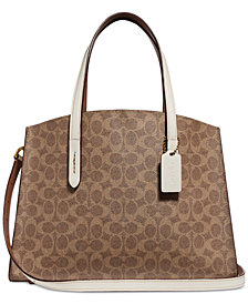 COACH Signature Charlie Medium Satchel