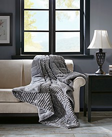 "Parker 60"" x 70"" Corduroy Plush Down-Alternative Throw"