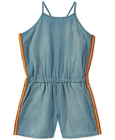 Calvin Klein Side Stripe Romper, Big Girls