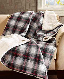 "Ridley Reversible 50"" x 70"" Softspun Down-Alternative Throw"
