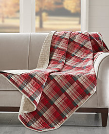 "Woolrich Tasha Reversible Plaid 50"" x 70"" Quilted Throw"