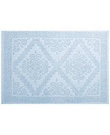 "LAST ACT! Idea Nuova Cotton 20"" x 30"" Diamond Medallion Jacquard Bath Rug"