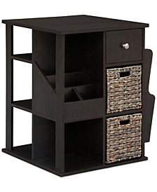 Revolving Multi Function End Table, Quick Ship