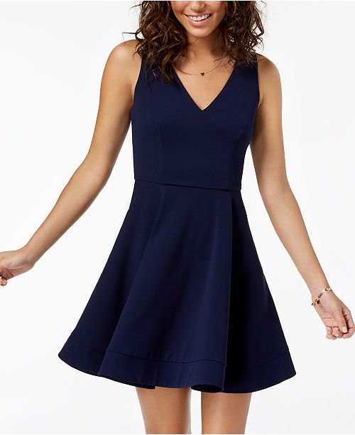 6058b208b26 B Darlin Juniors  Open-Back Fit   Flare Dress   Reviews - Dresses ...