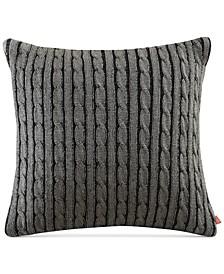 "Williamsport Knit 18"" Square Decorative Pillow"