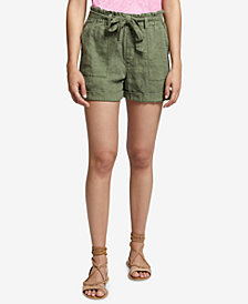 Sanctuary Linen Tie-Waist Shorts