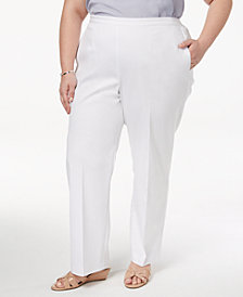 Alfred Dunner Barcelona  Plus Size Straight-Leg Pants