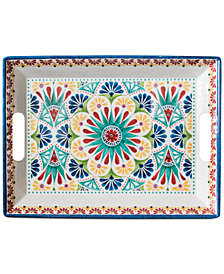 TarHong Rio Medallion Rectangular Handled Tray