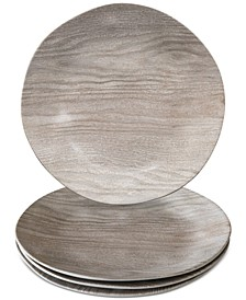 French Oak Melamine Dinner Plate, Set of 4