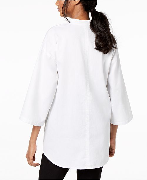 78a9c5a92c3 Eileen Fisher. Organic Cotton Wide-Sleeve Tunic. Be the first to Write a  Review. main image ...