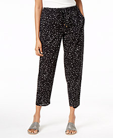 Eileen Fisher Organic Cotton Printed Ankle Pants, Regular & Petite