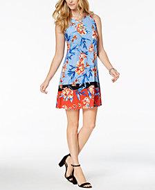 MSK Petite Printed O-Ring Dress