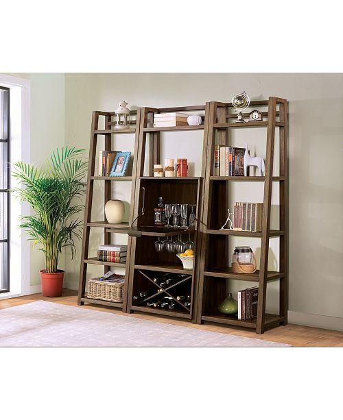 Furniture Ridgeway 3-Pc. Bar Wall Set (Bar Cabinet & 2