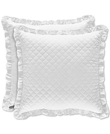 """Piper & Wright Flower Bed White 18"""" Square Decorative Pillow"""