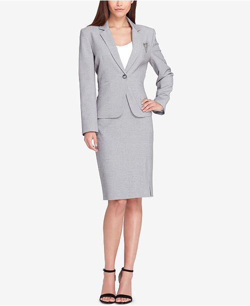 d9f96e806c7 Tahari ASL Embellished One-Button Skirt Suit   Reviews - Wear to ...