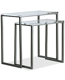 Lexi Clear Nesting Table (Set of 2), Quick Ship