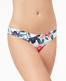 Roxy Urban Waves Printed Cheeky Bikini Bottoms